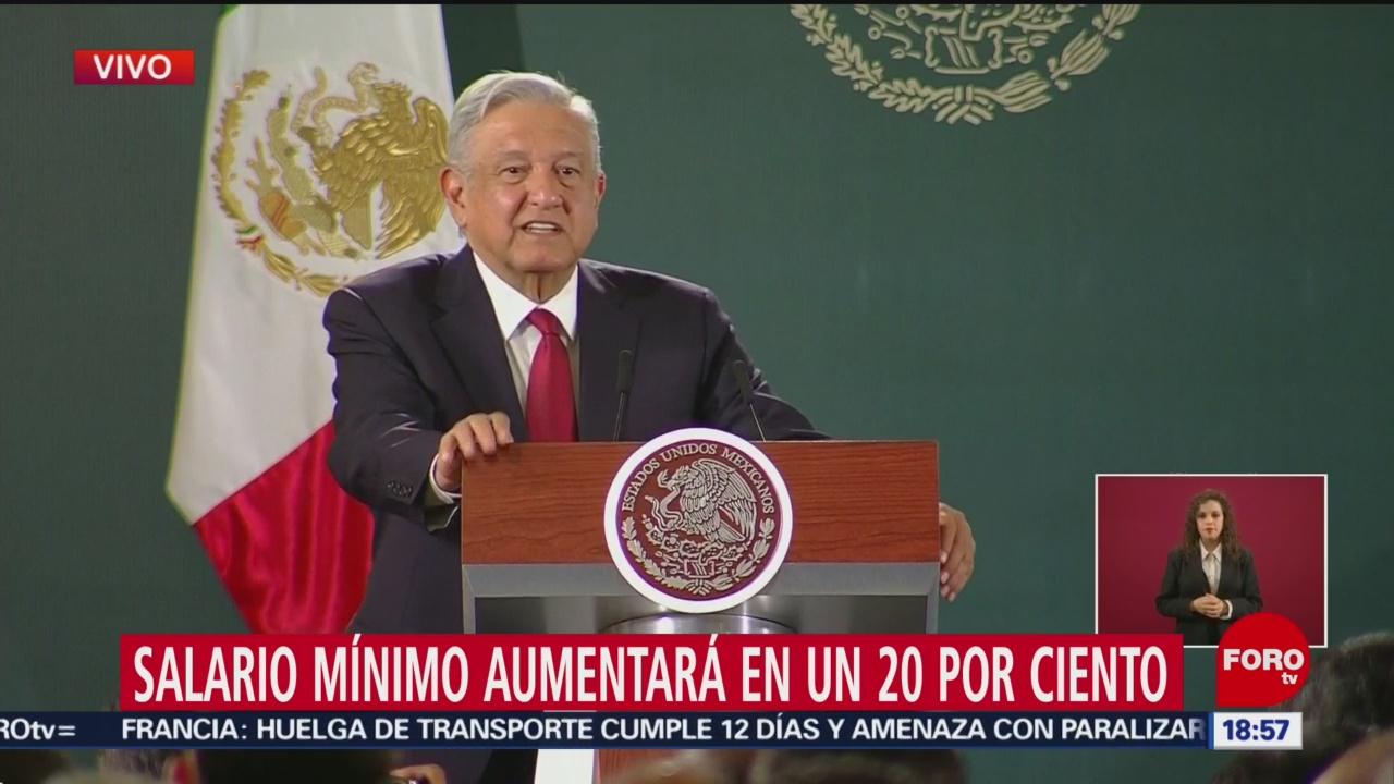 Foto: Amlo Anuncia Aumento Salario Mínimo 2020 16 Diciembre 2019