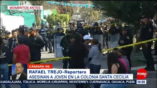 FOTO: Asesinan a joven en la alcaldía Tláhuac, 8 diciembre 2019