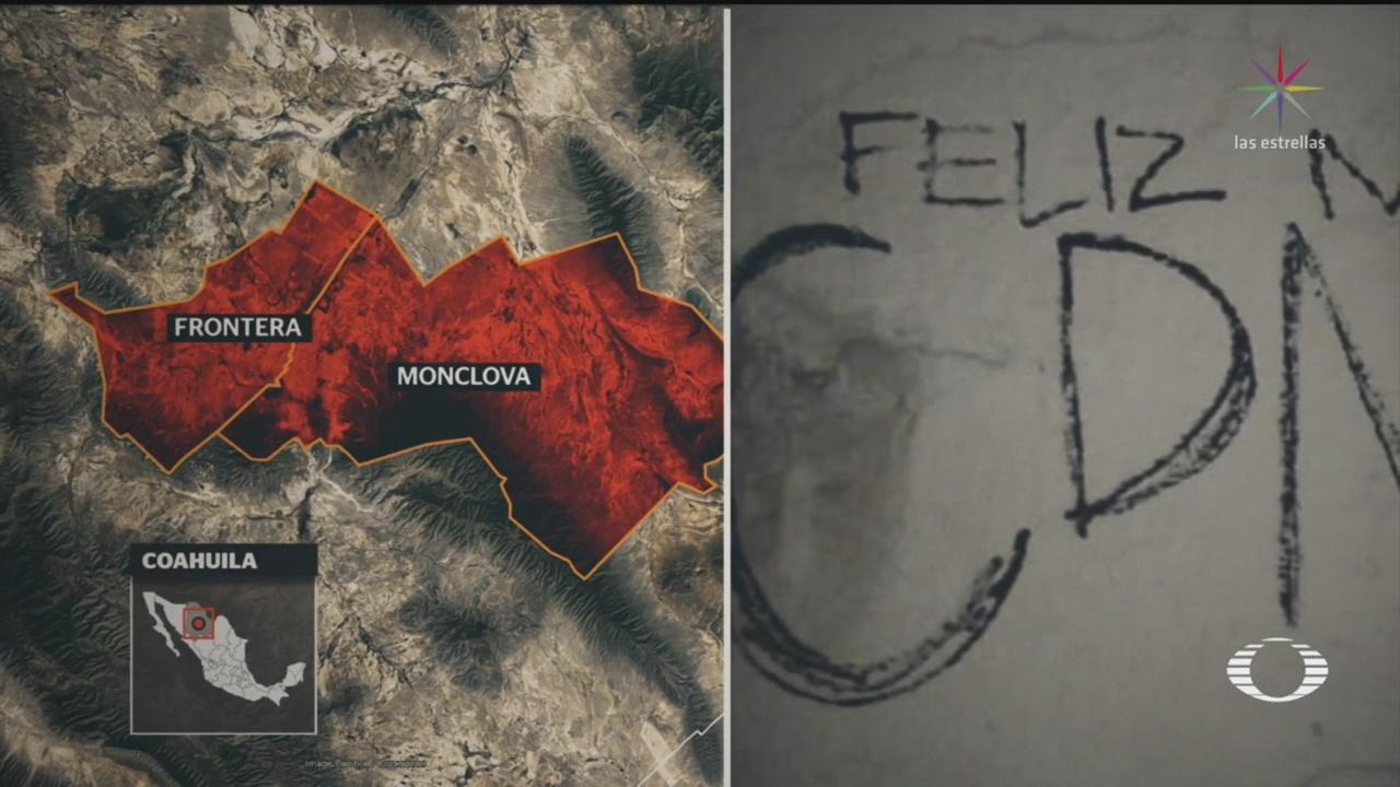 Foto: Cártel Del Noreste Nuevas Amenazas Coahuila 25 Diciembre 2019