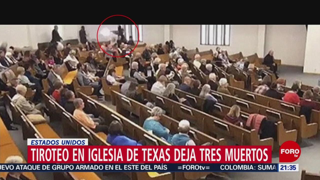 FOTO: 30 diciembre 2019,, difunden video del momento del tiroteo en iglesia de texas