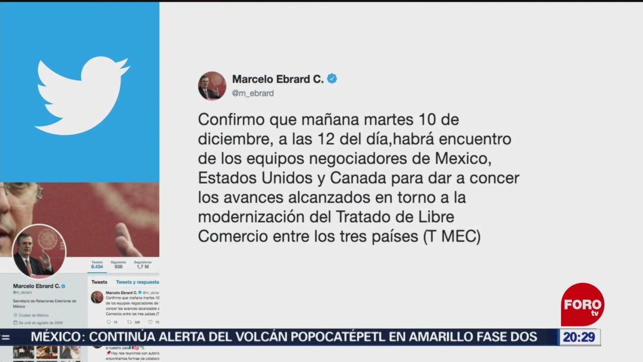 Foto: Ebrard Confirma Reunión Equipo Negociador T-Mec 9 Diciembre 2019
