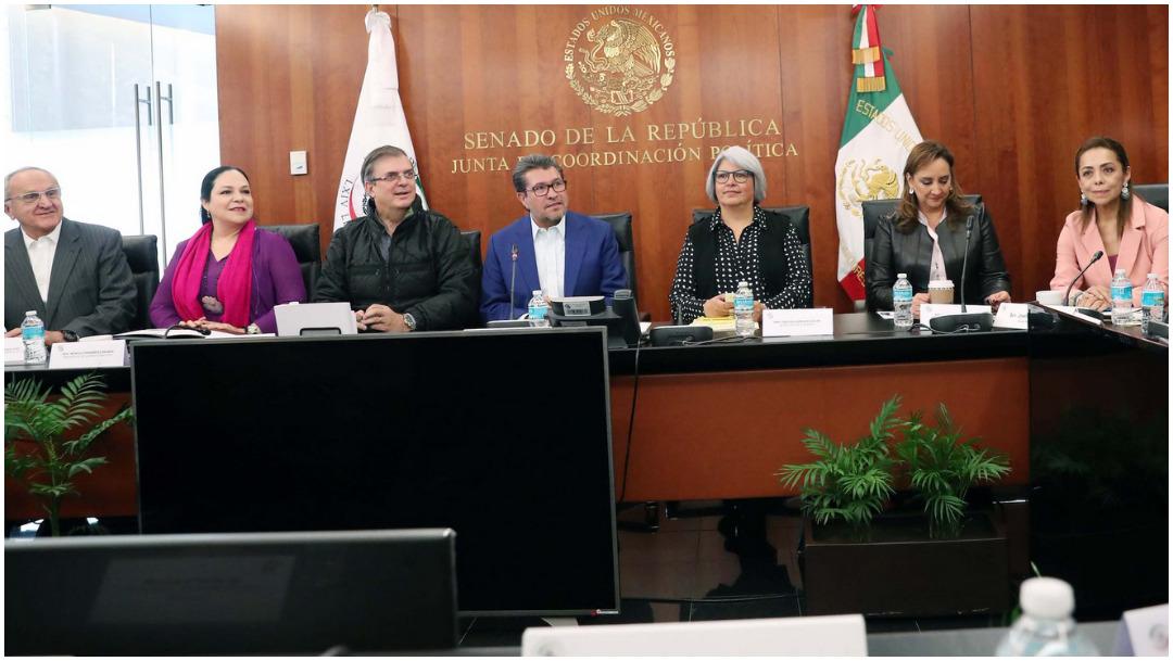 Foto: Marcelo Ebrard encabeza reunión con comisiones del Senado con respecto al T-MEC, 8 de diciembre de 2019 (Senado)