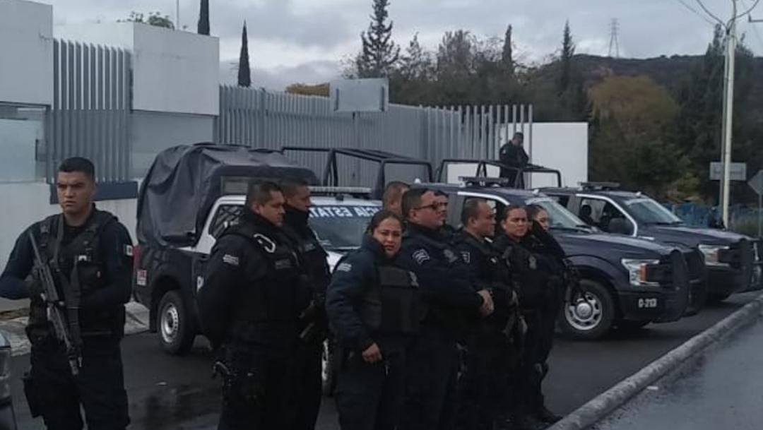 FOTO: Policías Estatales de Querétaro, el 22 de diciembre de 2019