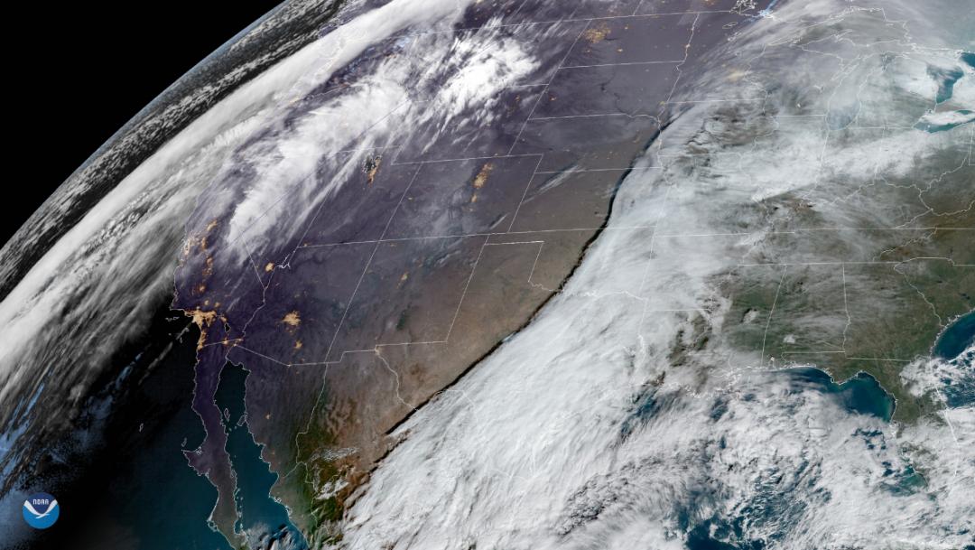 Capturan desde el espacio a tormentas que cubren a México