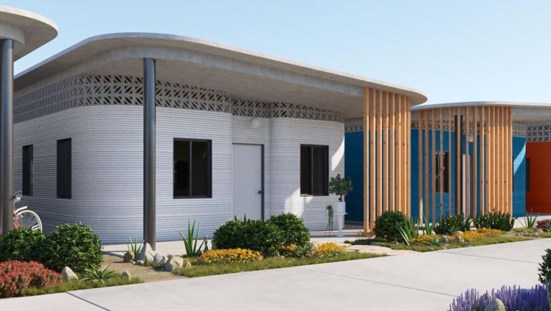 Impresora gigante 3D construye casas en Tabasco resistentes