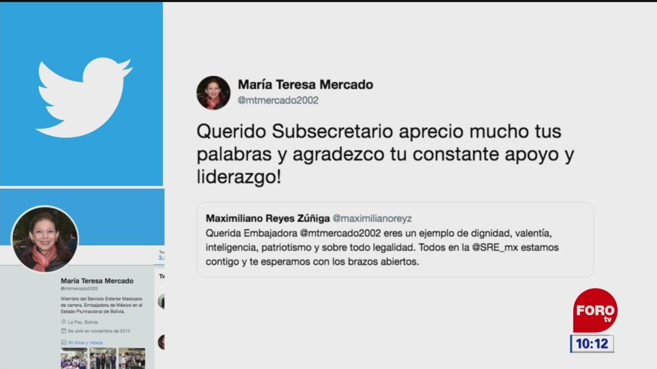 Foto: marcelo ebrard reconoce labor de embajadora de mexico en bolivia