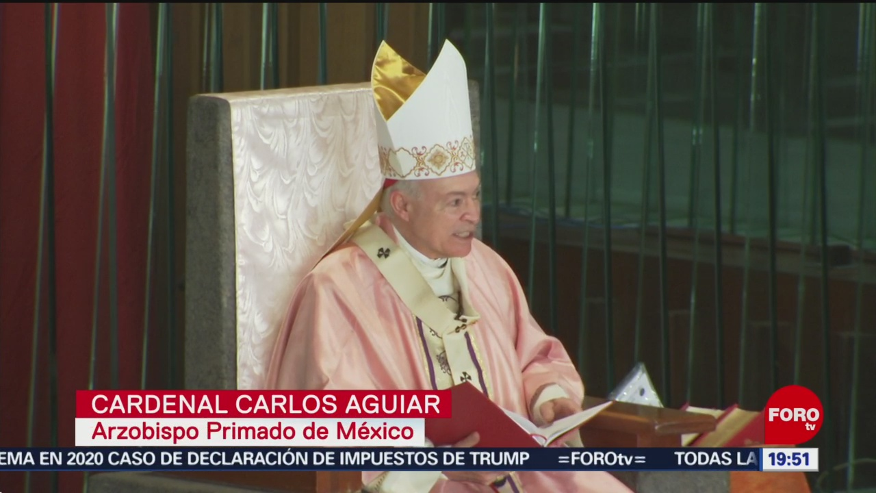 FOTO: Misa dominical en la Basílica de Guadalupe, 15 diciembre 2019