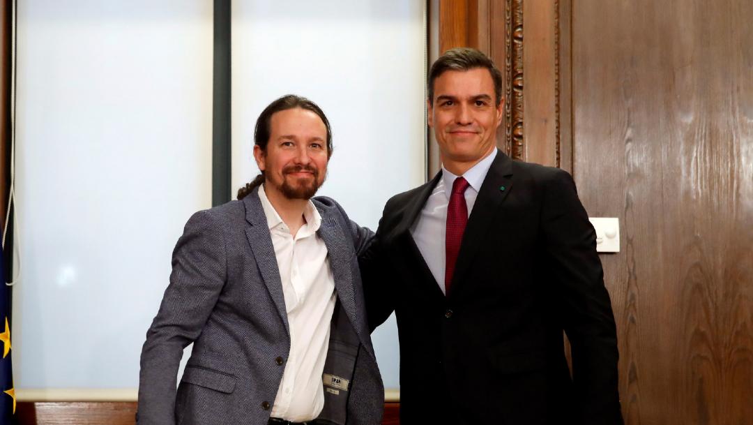 FOTO Izquierda de España presenta programa para Gobierno de coalición (EFE)