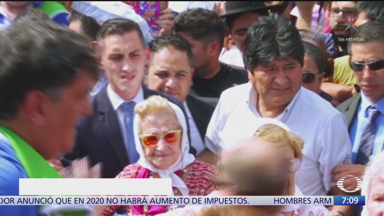 participa evo morales en la marcha madres de plaza de mayo en argentina