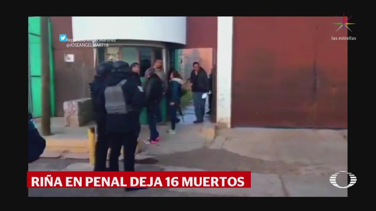 FOTO: 31 diciembre 2019, rina en penal de cieneguillas zacatecas deja 16 reos muertos