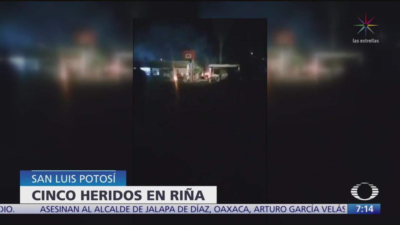 rina en penal de san luis potosi deja cinco reos heridos