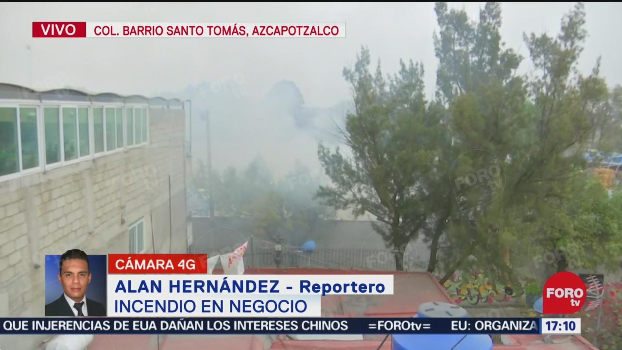 FOTO: 22 diciembre 2019, se registra incendio en fabrica de muebles en azcapotzalco