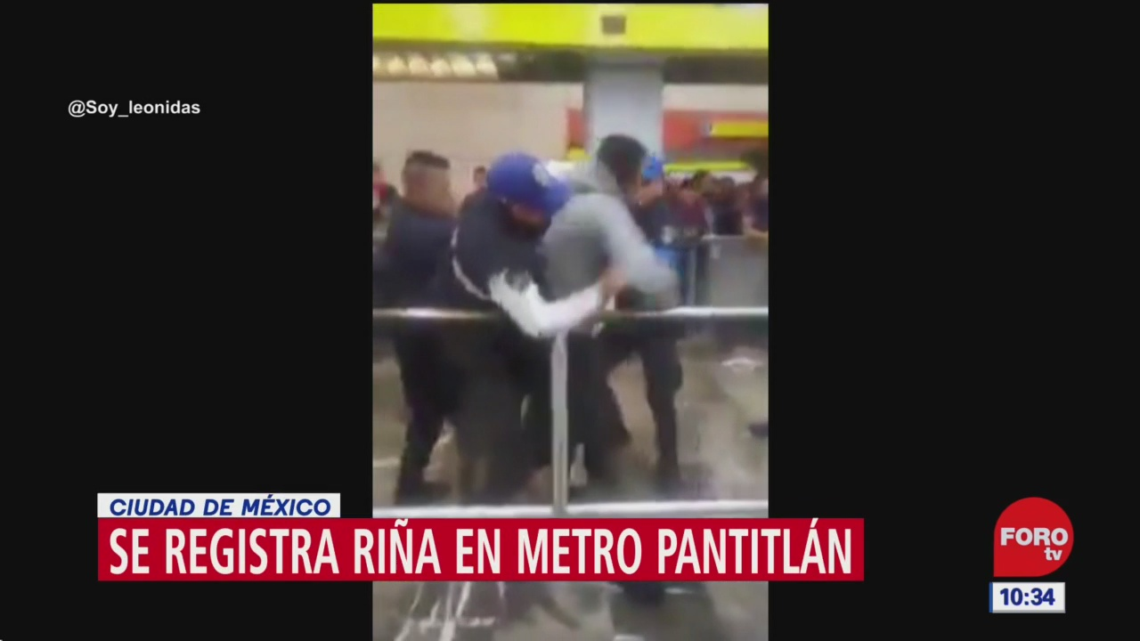 se registra rina entre usuarios del metro cdmx en estacion pantitlan