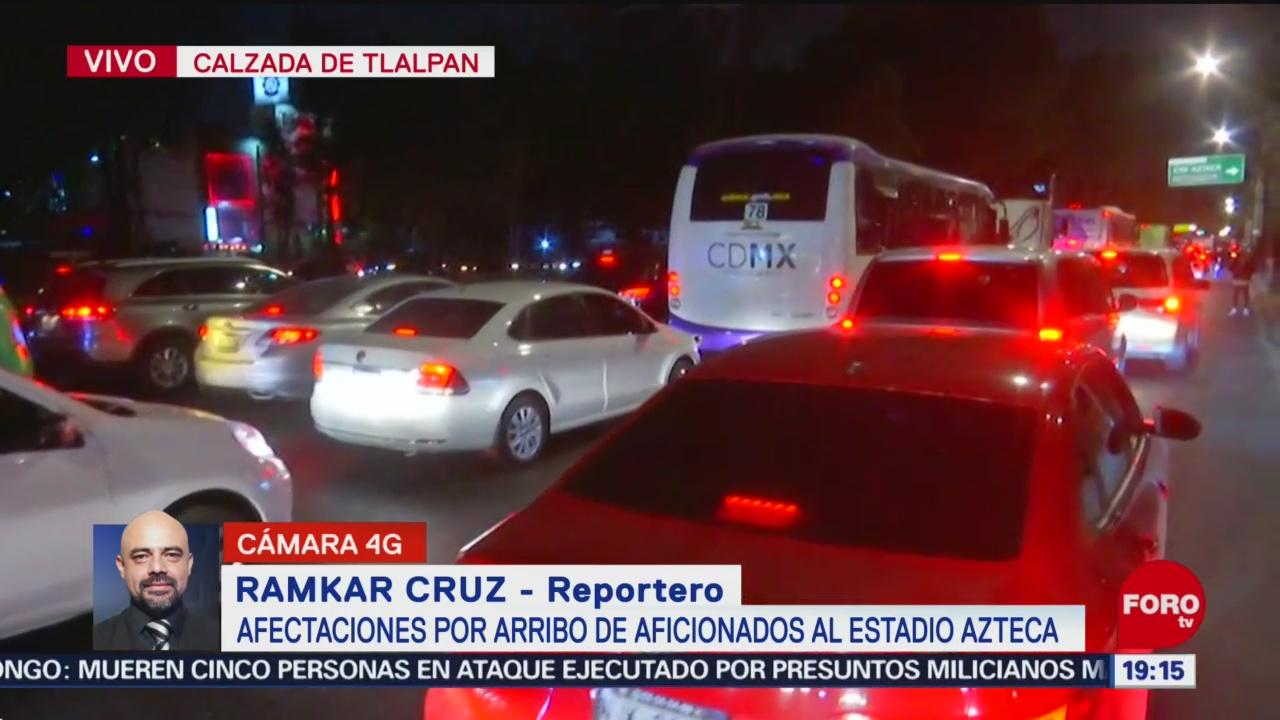 Foto: Tráfico Inmediaciones Estadio Azteca CDMX Hoy 29 Diciembre 2019