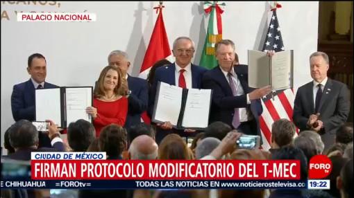 Foto: Tmec Buen Acuerdo México Eeuu Canadá Amlo 10 Diciembre 2019