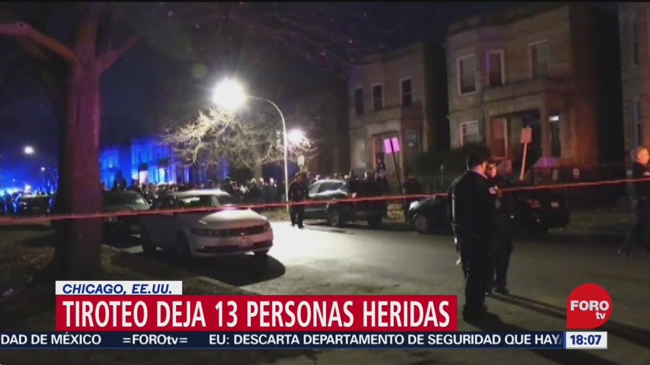 FOTO: 22 diciembre 2019, trece personas heridas tras tiroteo en chicago