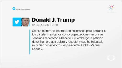 Foto: Trump Aplaza Declaratoria Terrorista Cárteles Mexicanos 6 Diciembre 2019