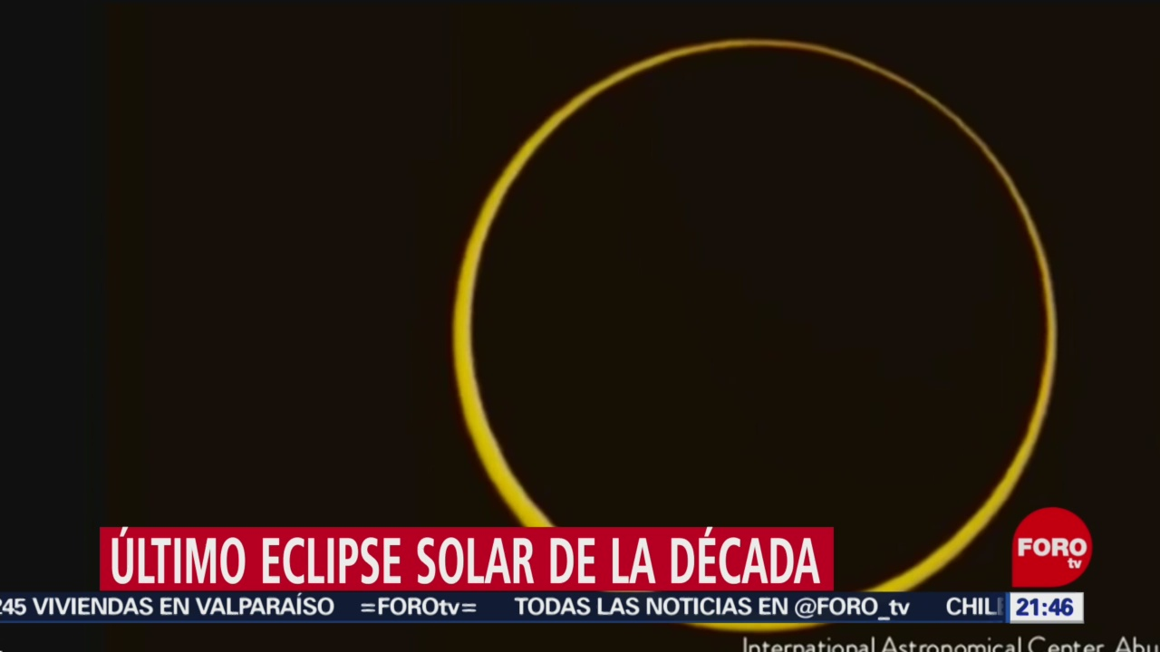 Foto: Último Eclipse Solar Década 25 Diciembre 2019