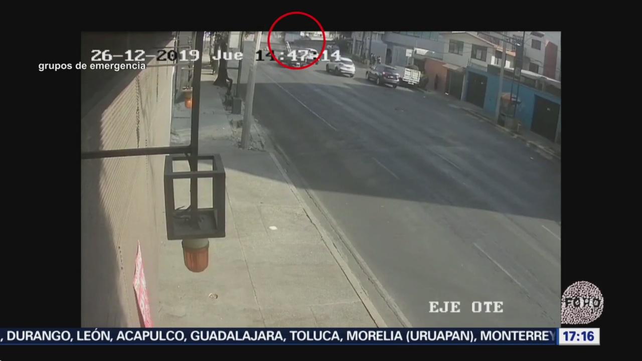 Foto: Video Momento Volcadura Pipa Bomberos Cdmx 26 Diciembre 2019