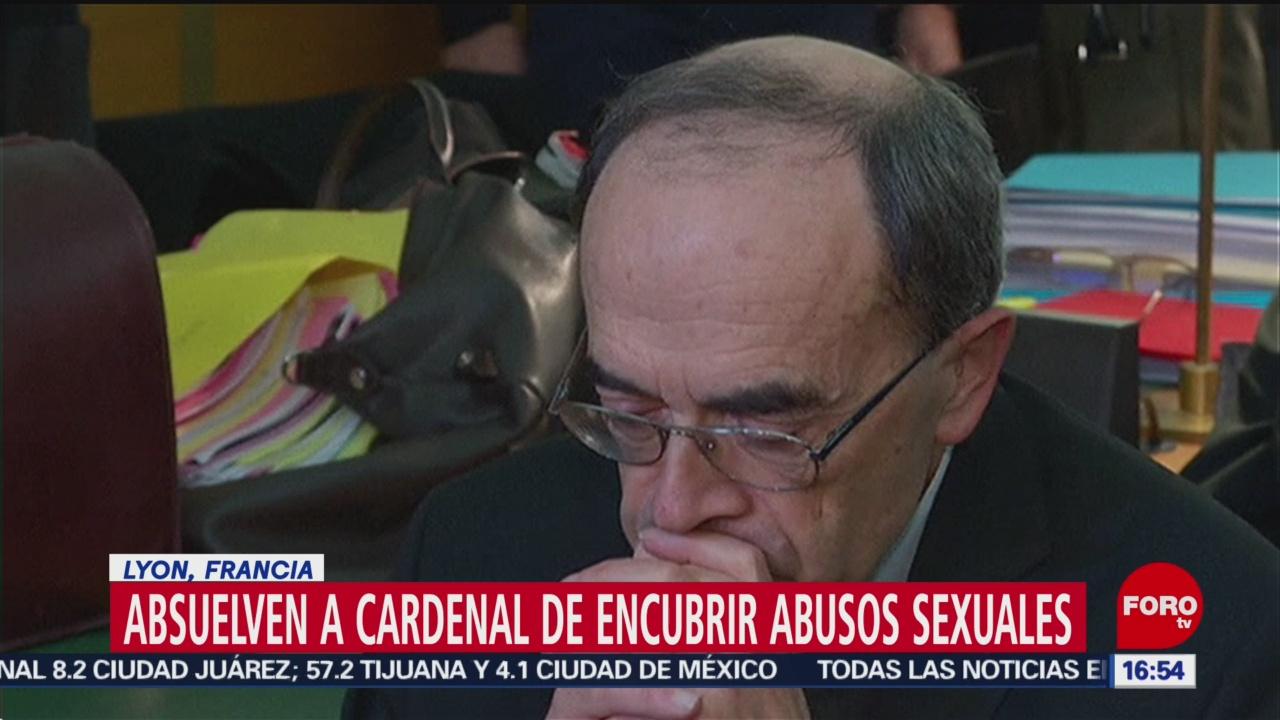 FOTO: absuelven a cardenal de encubrir abusos sexuales