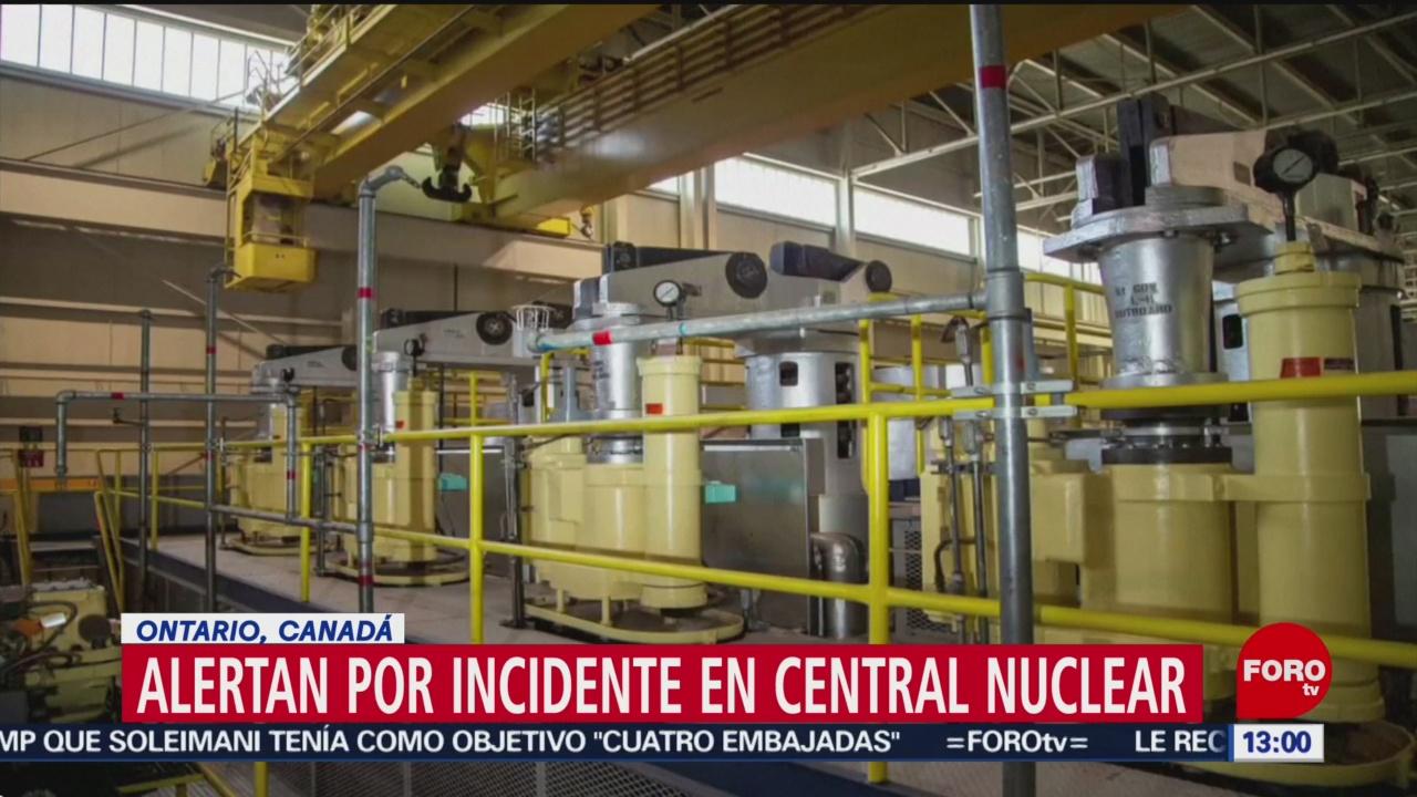 FOTO: 12 enero 2020, alerta en central nuclear de pickering en ontario