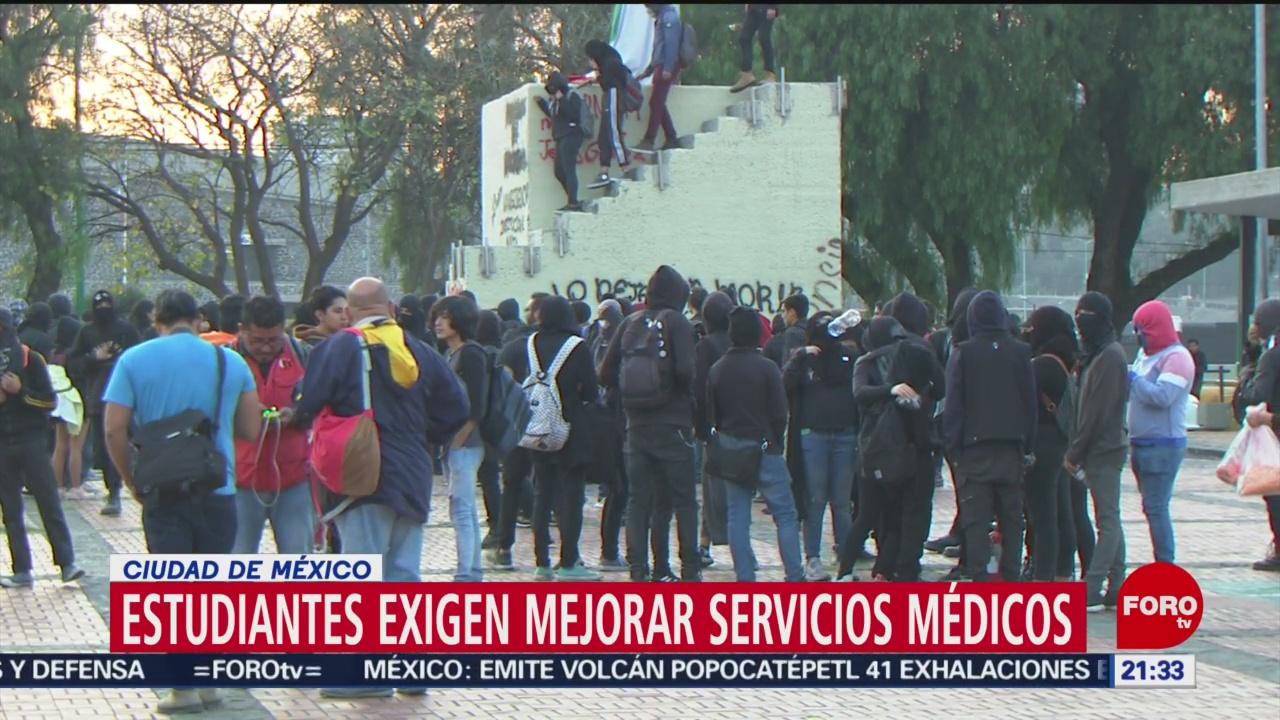 Foto: Alumnos Cch Azcapotzalco Exigen Mejores Servicios Médicos 21 Enero 2020