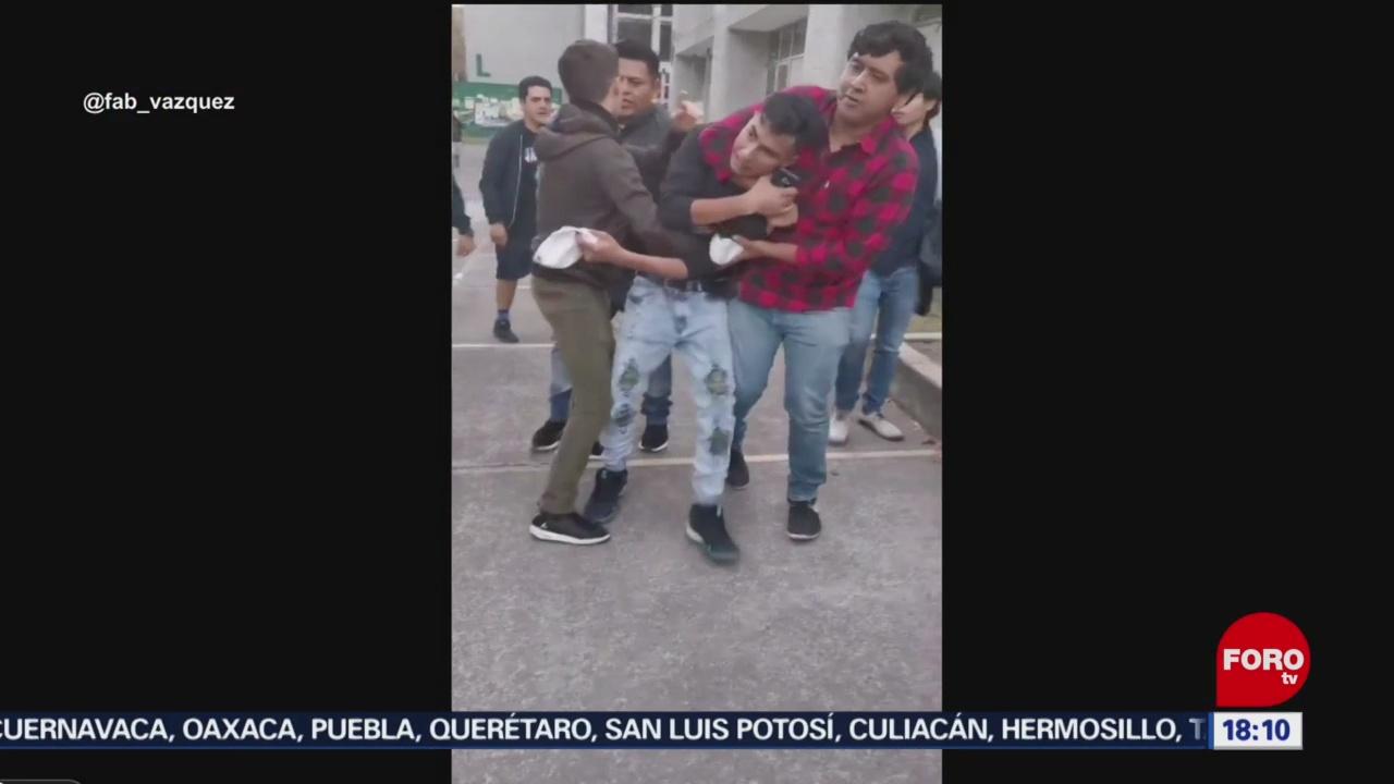 FOTO: alumnos detienen a presunto asaltante en la uam iztapalapa