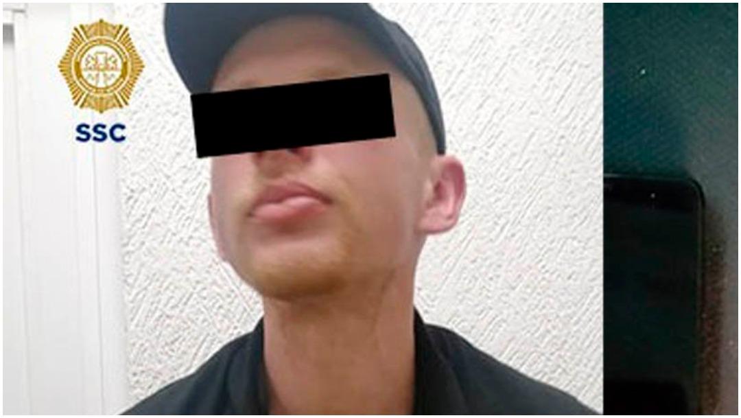 Foto: Cae ciudadano ruso acusado de robo con violencia en la CDMX, 12 de enero de 2020 (SSC)