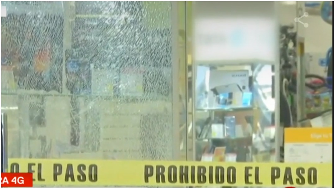 Foto: Detienen a uno tras asalto en centro comercial de Iztacalco, 5 de enero de 2020 (Foro TV)