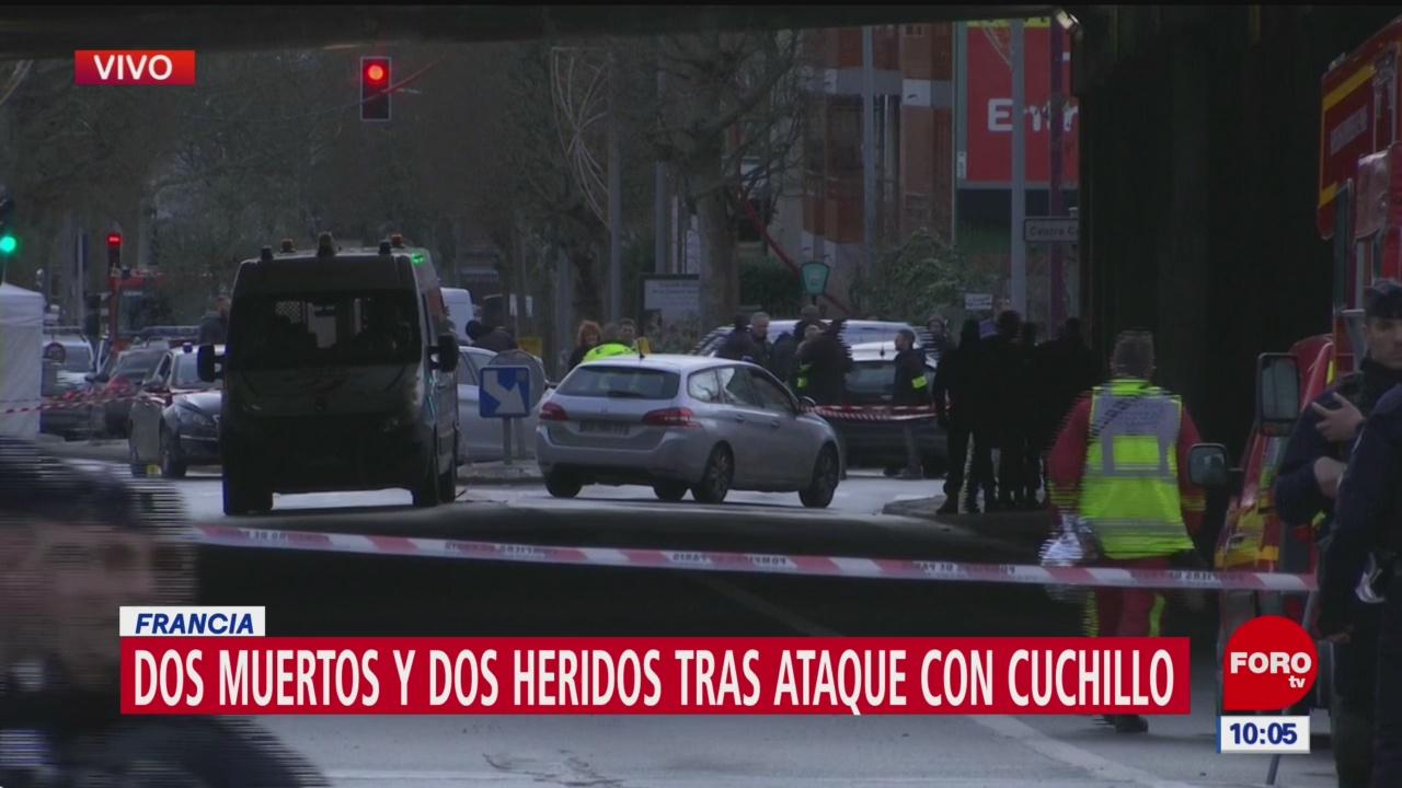 Foto: ataque con cuchillo al sur de paris, 3 de enero de 2020