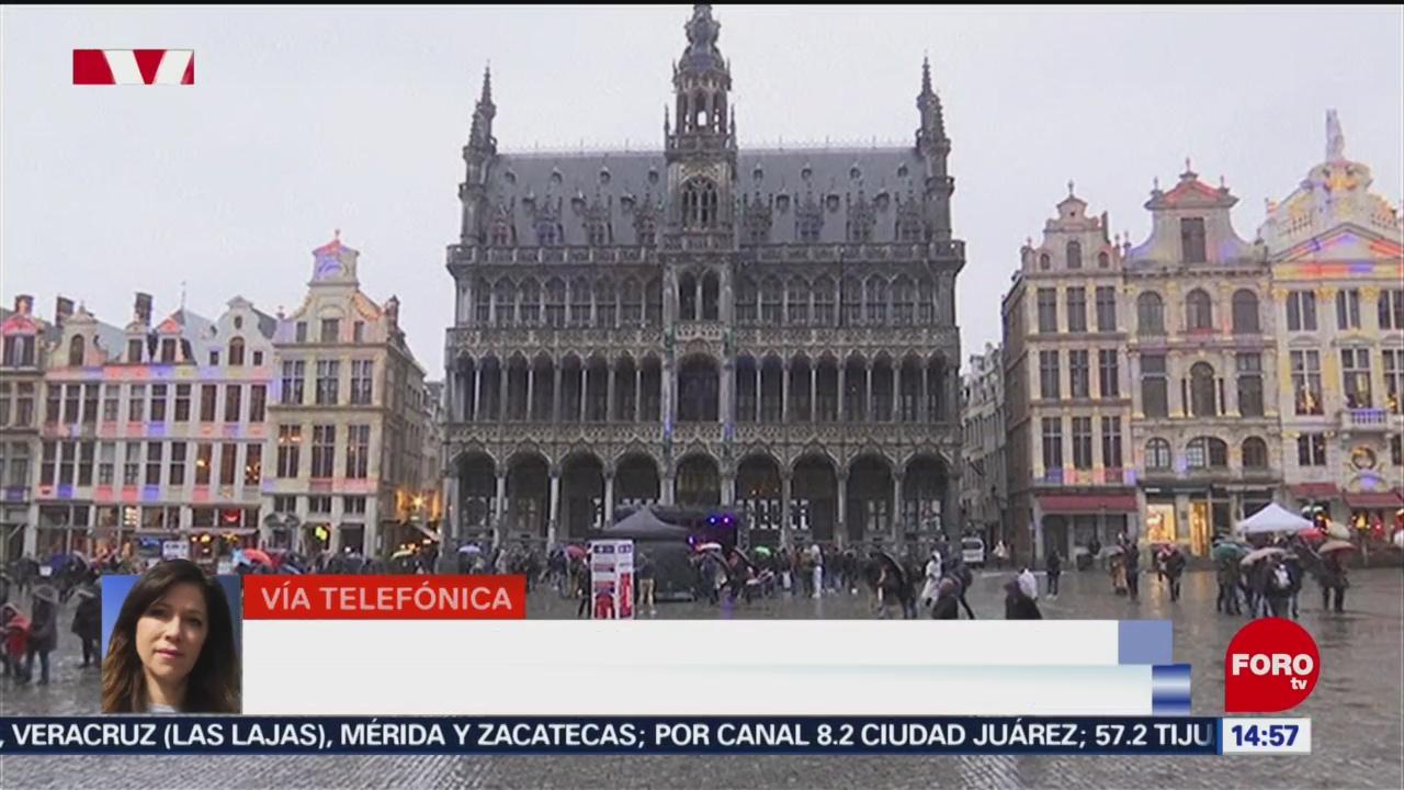 FOTO: bajan la bandera del reino unido en sede de la ue en bruselas
