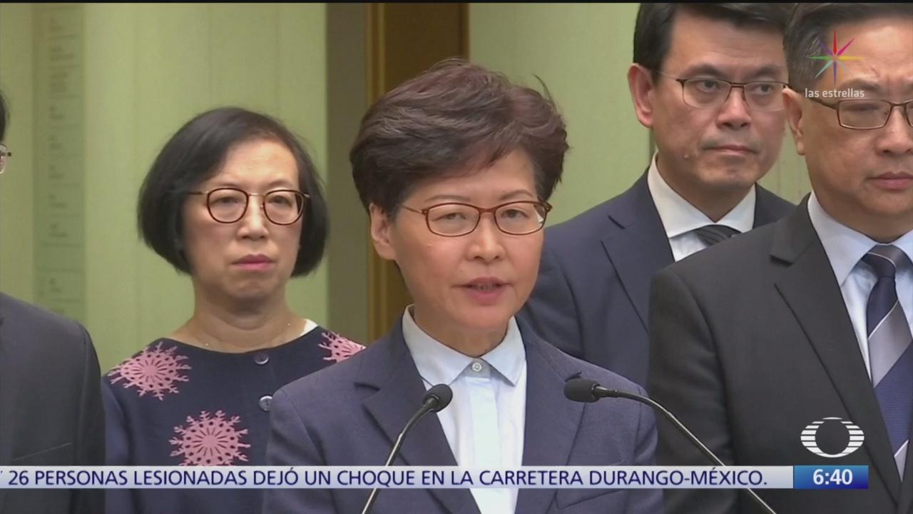 carrie lam admite responsabilidad para desactivar protestas en hong kong
