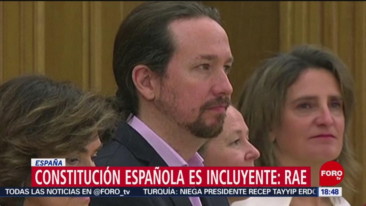 FOTO: constitucion espanola es incluyente asegura la rae