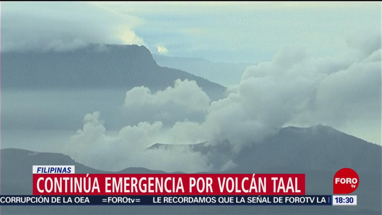 FOTO: 19 enero 2020, continua la emergencia en filipinas por actividad del volcan taal