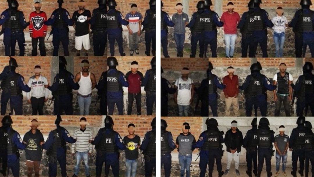 Foto: Caen 29 sicarios de grupo criminal en Guanajuato, 24 de enero de 2020, (Twitter @radioturquesa)