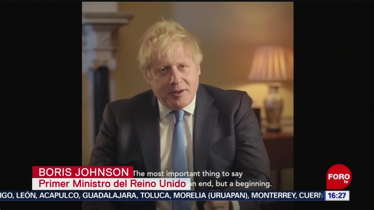 FOTO: este no es el final es el inicio boris johnson tras brexit