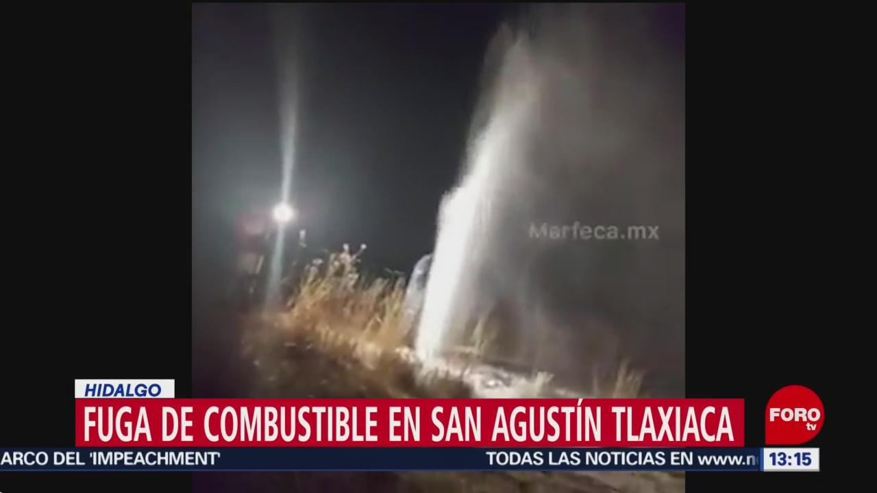 FOTO: 19 enero 2020, fuga de combustible en san agustin tlaxiaca hidalgo