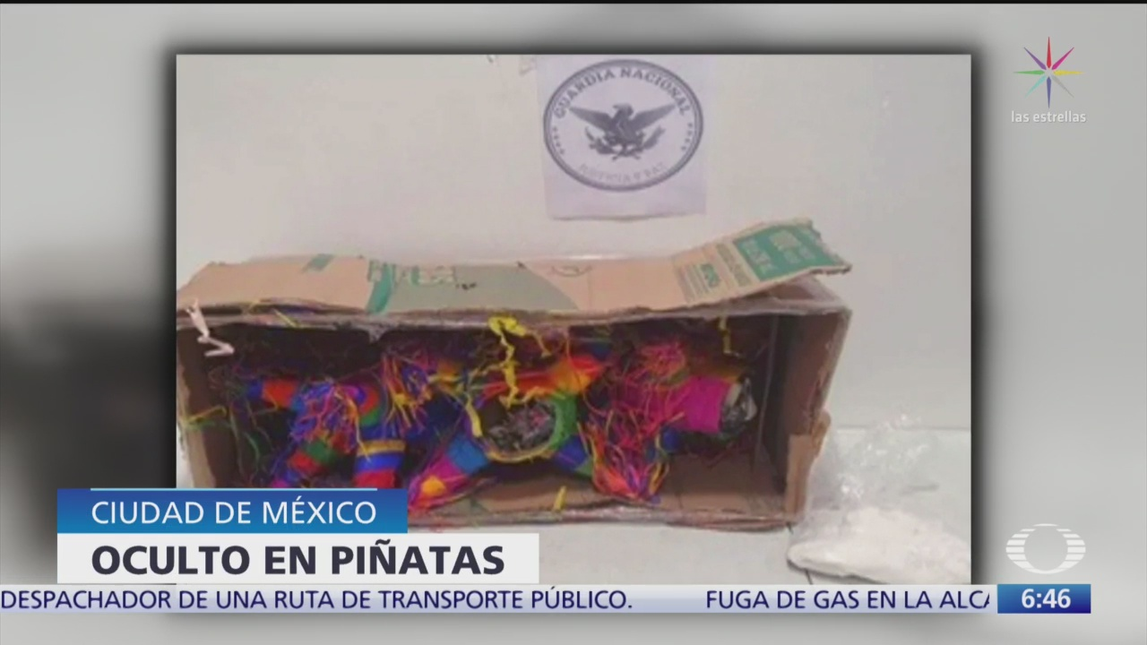 guardia nacional intercepta pinatas con metanfetaminas