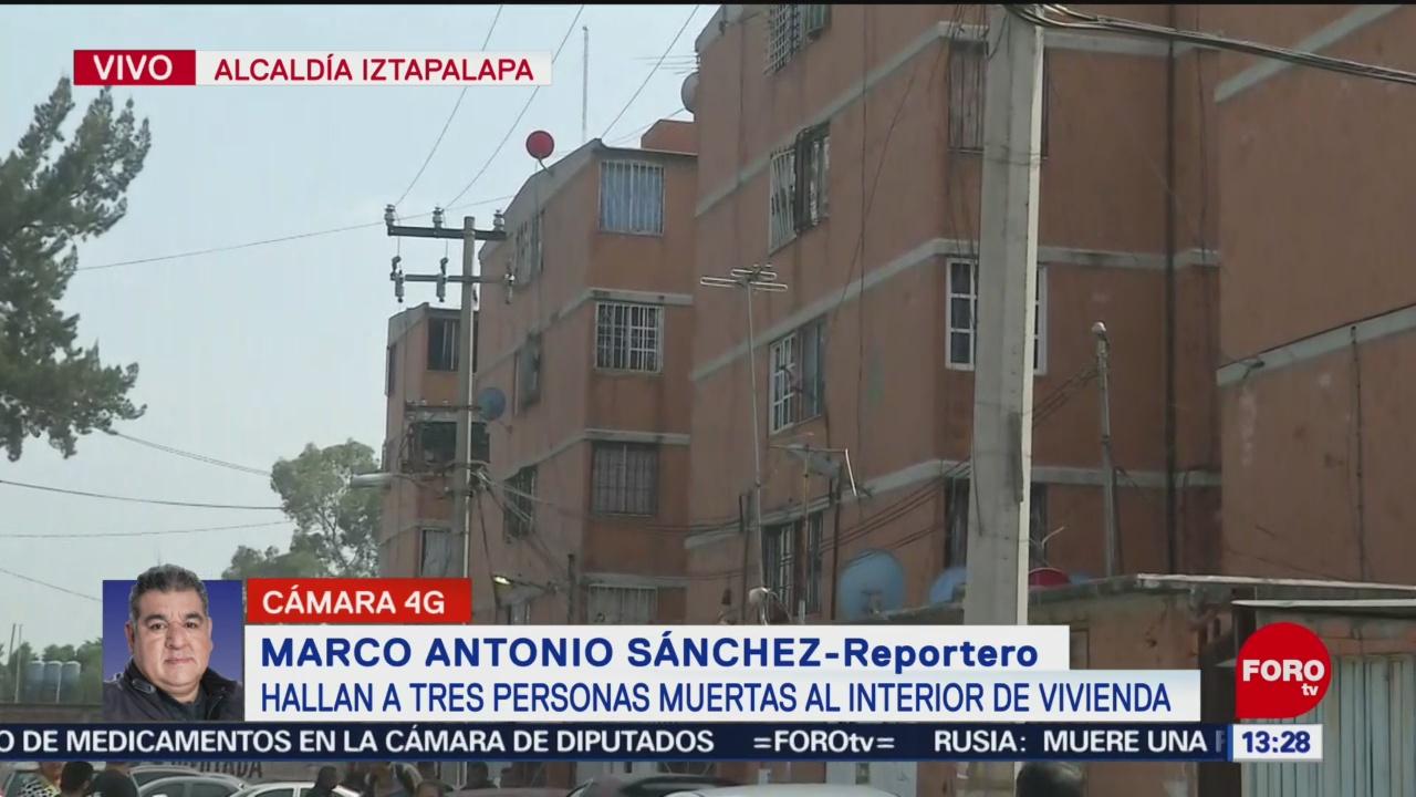 FOTO: hallan tres personas muertas en una vivienda en la alcaldia iztapalapa