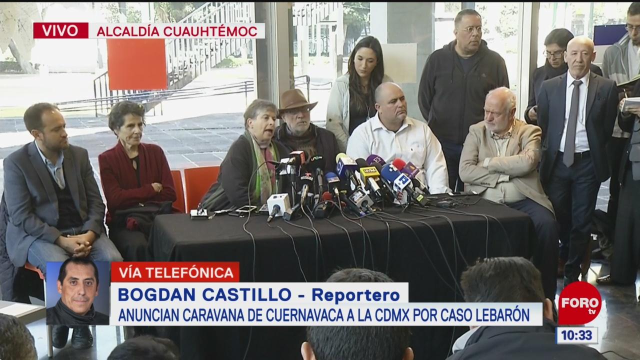 FOTO: javier sicilia y julian lebaron anuncian caravana de cuernavaca a cdmx
