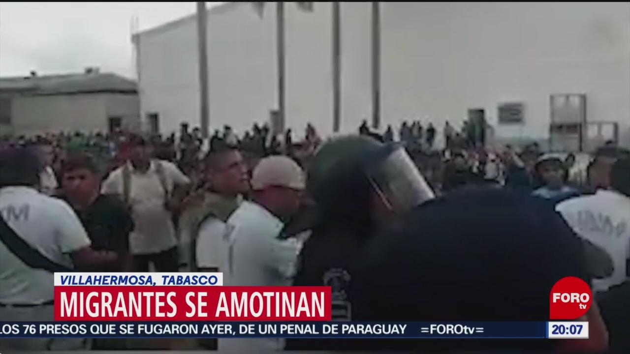 Foto: Migrantes Protestan Escapan Estación Migratoria Villahermosa Tabasco 20 Enero 2020