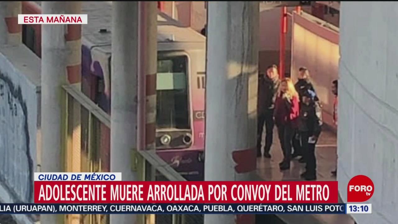 FOTO: muere adolescente arrollada por convoy en estacion del metro nezahualcoyotl