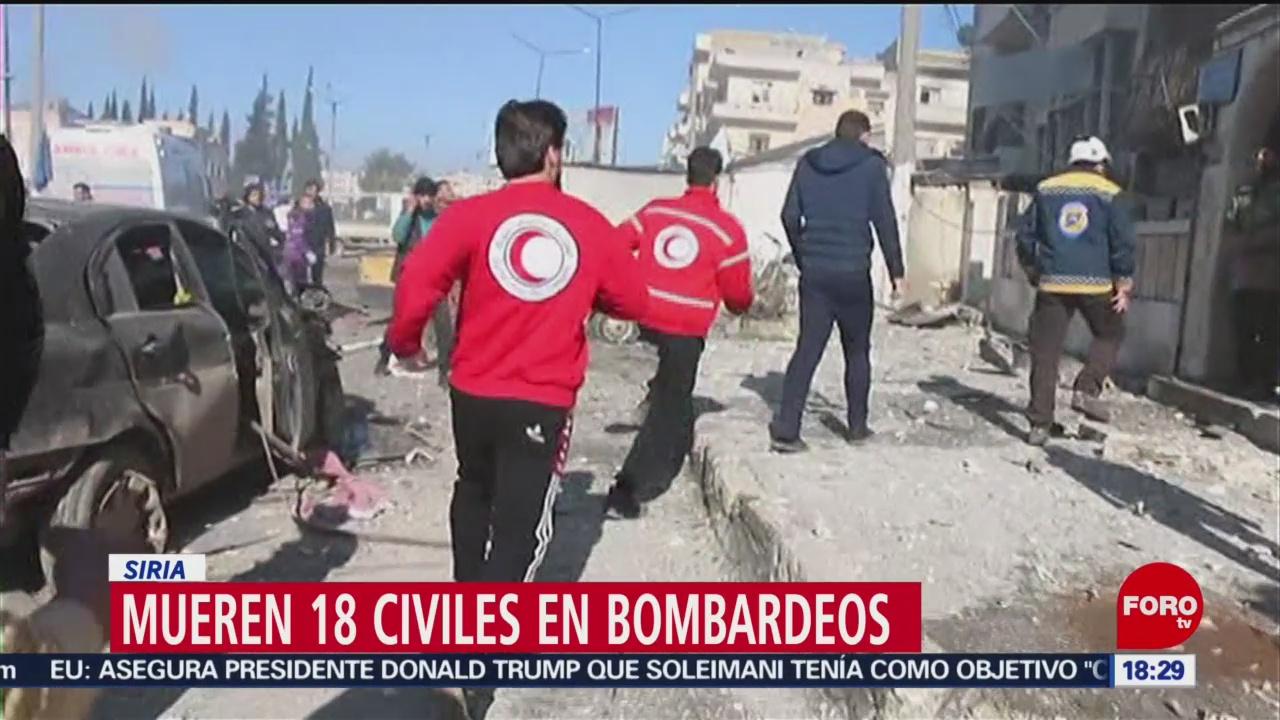 FOTO: 11 enero 2020, mueren 18 civiles tras bombardeos del regimen sirio