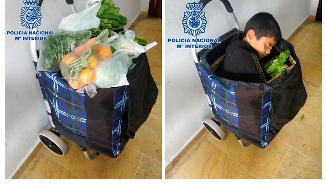 Foto Intentan cruzar a niño palestino a España oculto en un carrito de compras 3 enero 2020