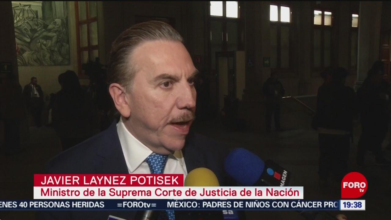 Foto: Reforma Judicial Ministro Suprema Corte Javier Laynez 16 Enero 2020