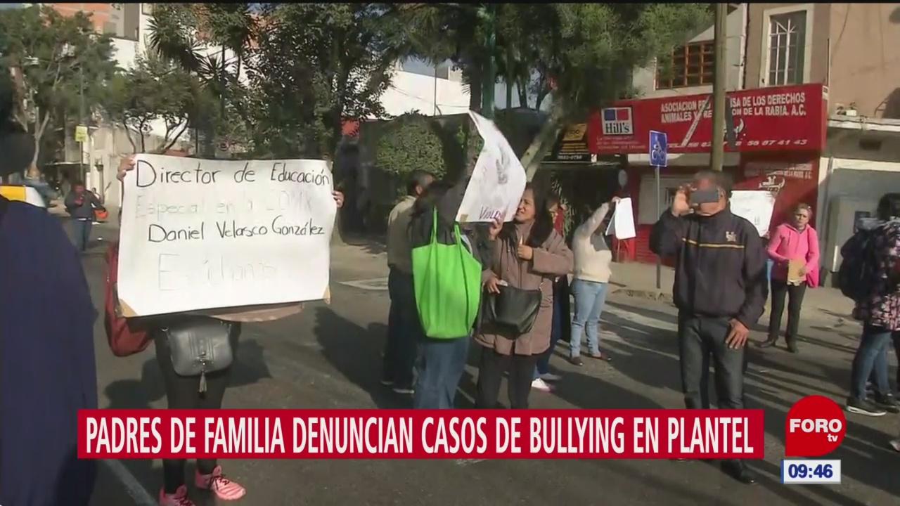 padres de familia denuncian casos de bullying en plantel