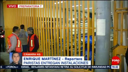 Foto: Prepa 9 UNAM Paristas Entregan Instalaciones 28 Enero 2020