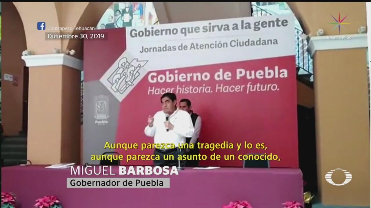 Foto: Barbosa Personas Ejecutadas Puebla Portaron Mal 6 Enero 2020