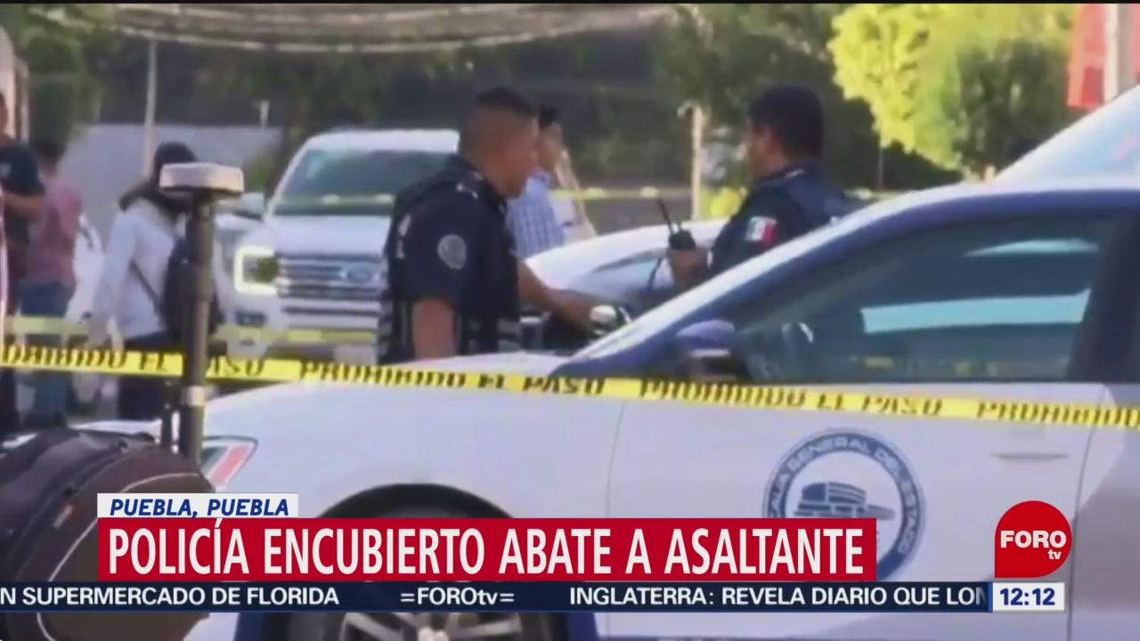 policia encubierto abate a asaltante en puebla
