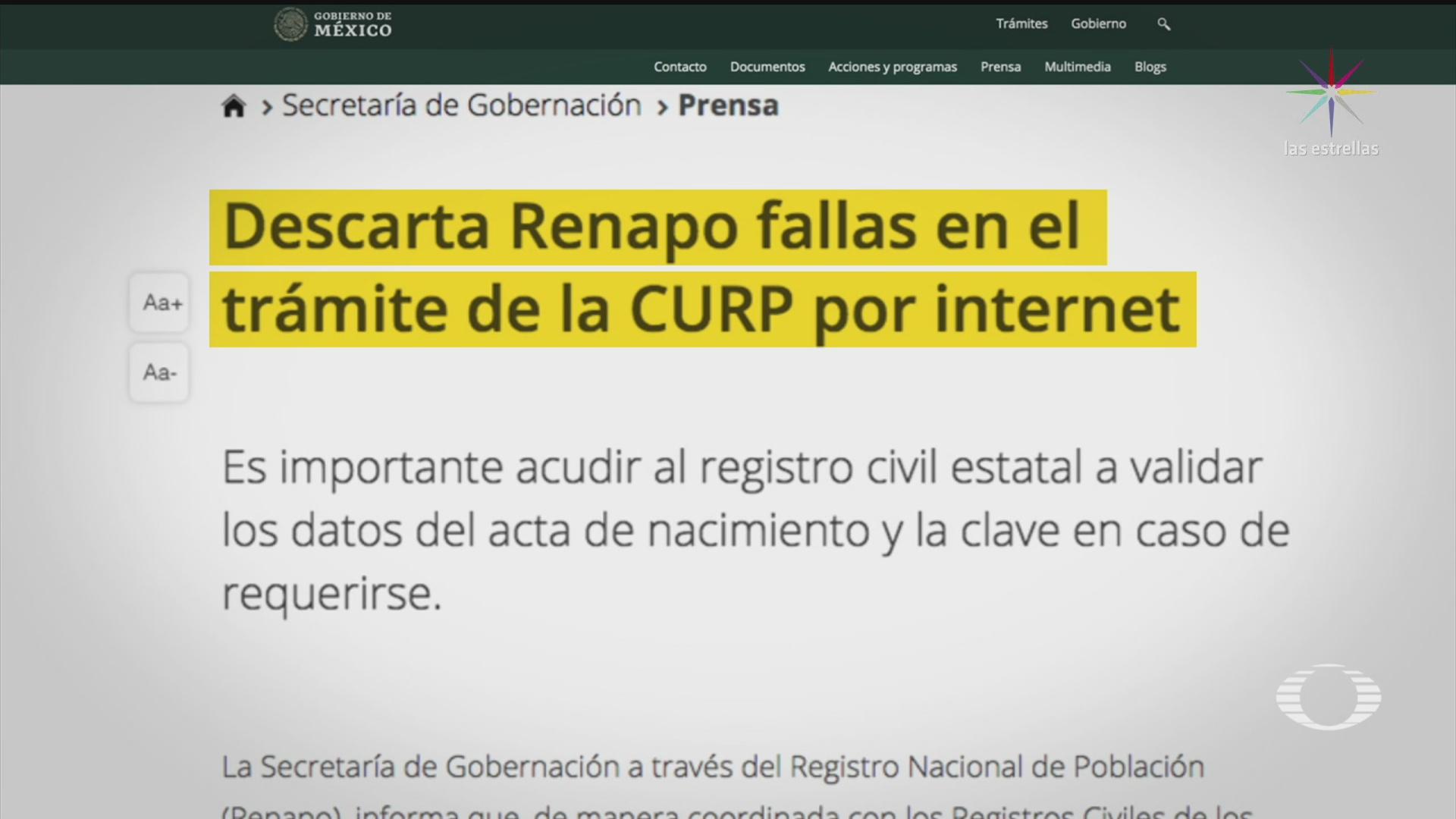 Foto: Curp Vía Internet Reportan Fallas Trámite 15 Enero 2020